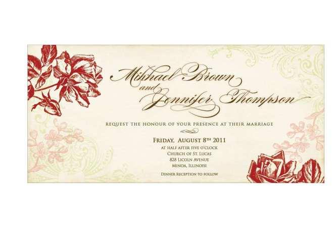 Teal Wedding Invitation Blank Template