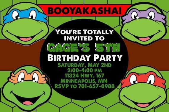 90 format ninja turtle birthday