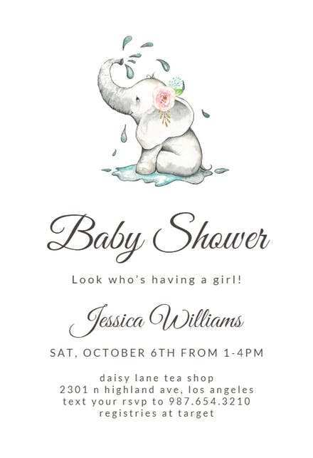 90 Online Blank Baby Shower Invitation