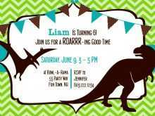 dinosaur party invitation template free