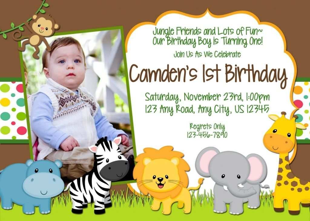 91 create safari birthday invitation