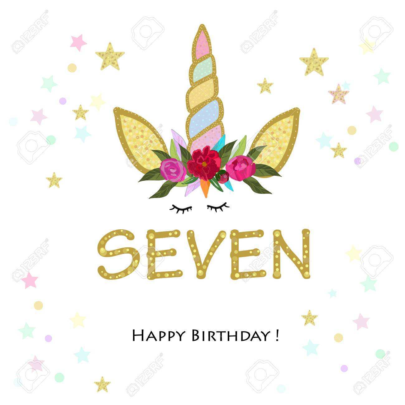 96 format unicorn 7th birthday