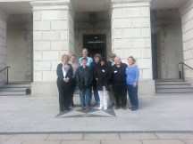 Picture of the Northern Ireland Peace Process Delegation to Ireland with leader Richard Pena.