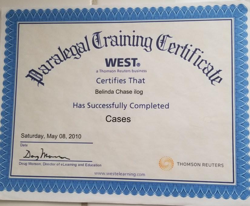Paralegal Training Certificate