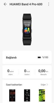 Huawei Sağlık Uygulaması ile bilekliğin eşleşmesi
