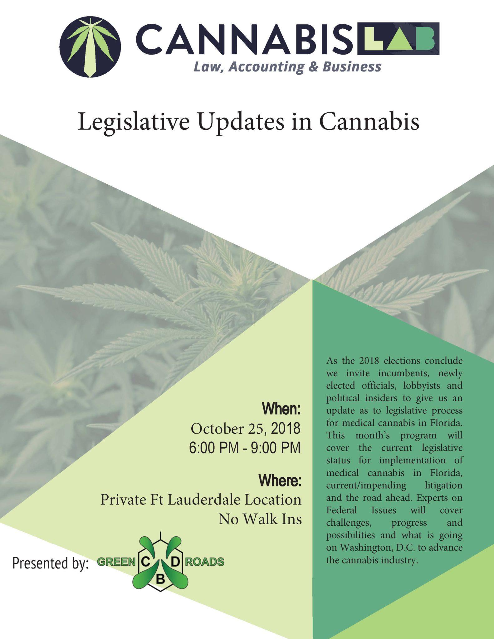 Legislative Updates in Cannabis