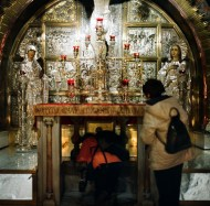 Golgota altar in the Church of the Holy Sepulchre, Jerusalem, Israel.