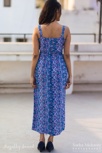 Blue Aztec Print Maxi Dress 5