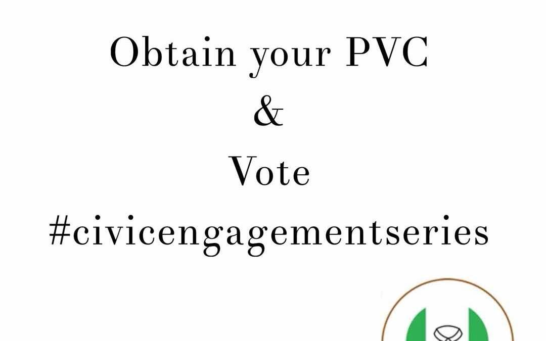 Civic Engagement Series: Obtain your PVC & Vote