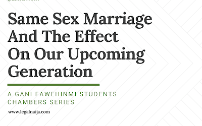 Same sex marriage and the effect on our upcoming generation