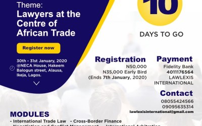 It's 10 Days to the Career Training for Lawyers, have you registered?