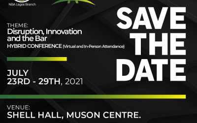 #NBALAGOS2021 Law Week: Disruption, Innovation And The Bar