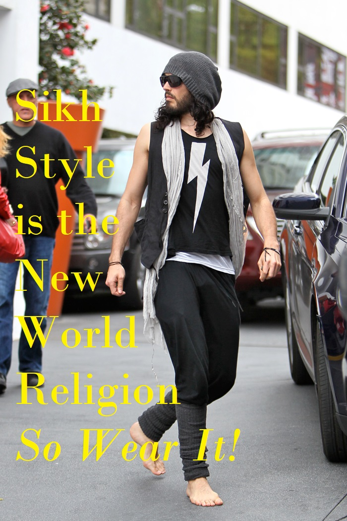 russell brand sikh style