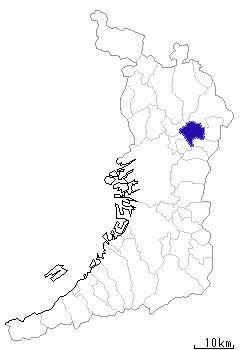 寝屋川市の位置図