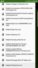 All Laws of the Federation of Nigeria App LFN