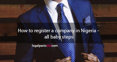 How to register a company in Nigeria - all baby steps