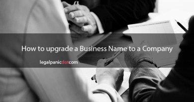 How to upgrade a Business Name to a Company