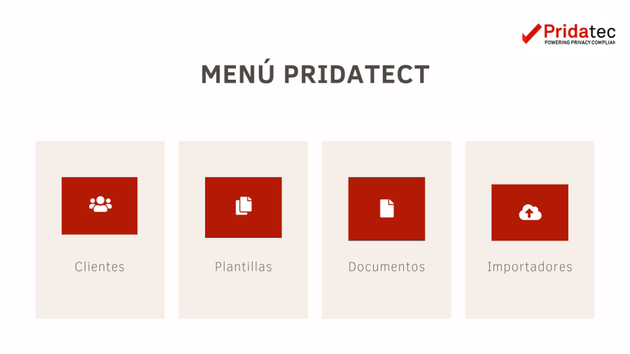 Menu de pridatect