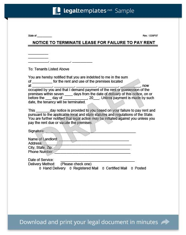 Free Eviction Template eviction notice create a free eviction – Free Eviction Notice Form