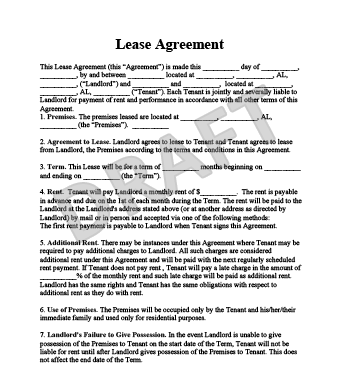 Rental Contract Template. garage storage lease agreement with ...