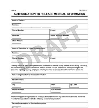 General medical records release form sample free download altavistaventures Gallery