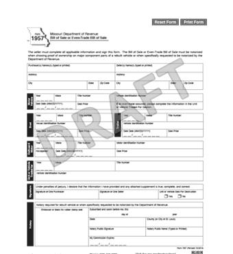Free Missouri Bill Of Sale Form PDF Template LegalTemplates