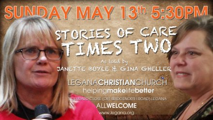 Stories Of Care Times Two, Sunday May 13th 5:30PM