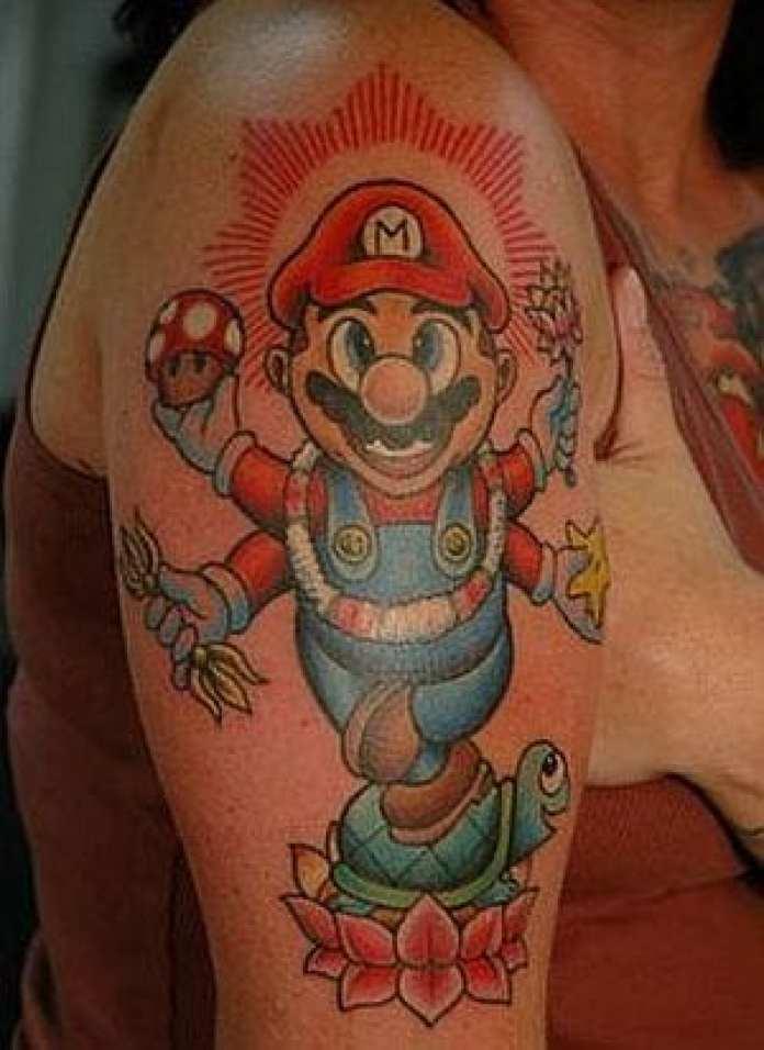 Tatuaggio Nerd - Mario - Lega Nerd