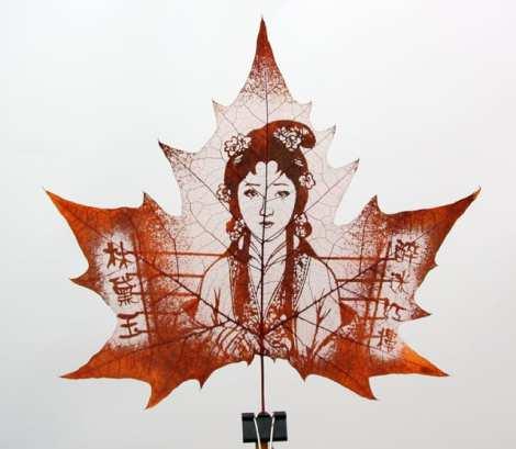 Leaf Carving woman