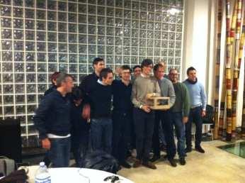 Giuliano Iacobelli e i vincitori: il team di QuickJobs
