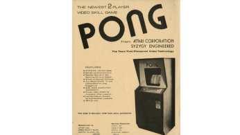 Un manifesto pubblicitario di Pong