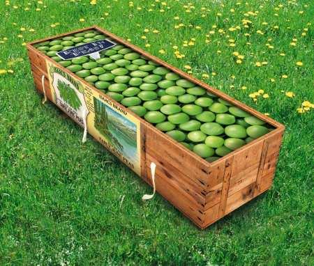 pea coffins grass