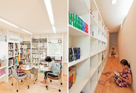 Libreria e scivolo per il corridoio