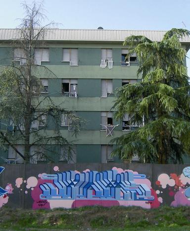 Padova, muro antispaccio via Anelli 2006