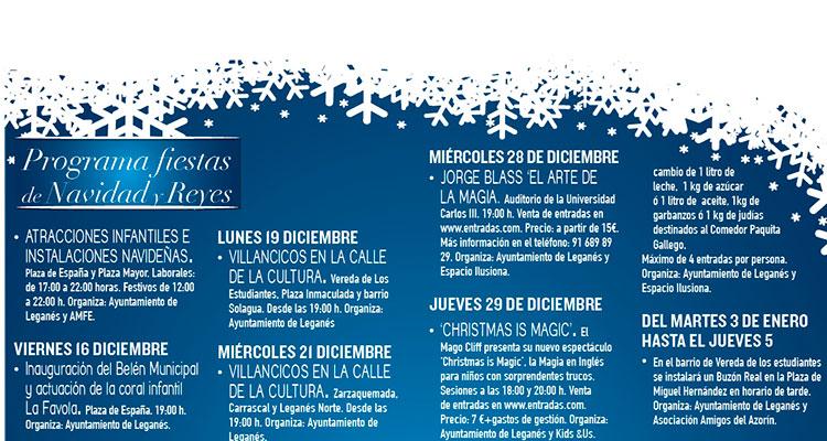 Programación de Navidad en Leganés