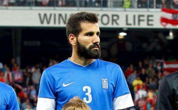 Siovas con la selección griega.