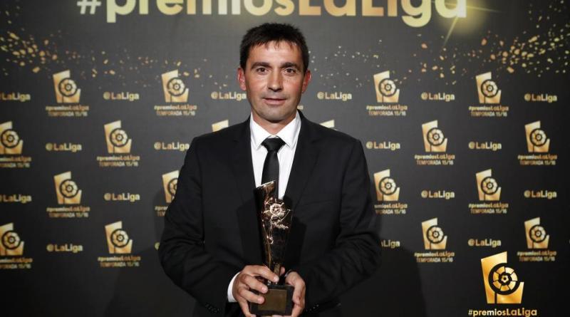 Asier Garitano, mejor entrenador de LaLiga Santander.