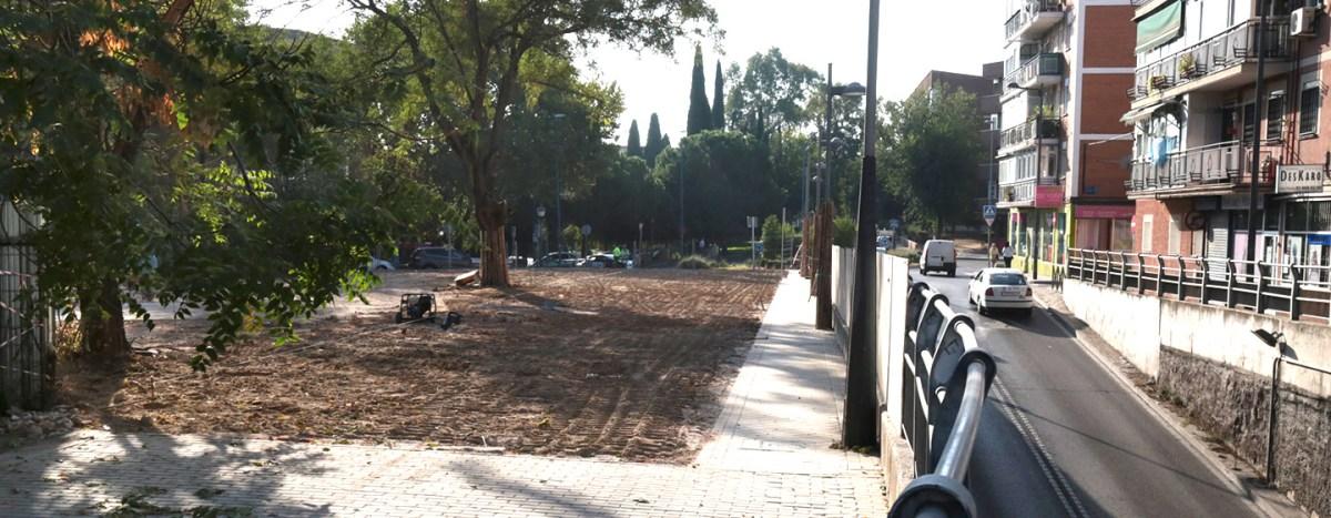 El Paseo de Colón de Leganés amplía su acera y alojará una amplia zona verde
