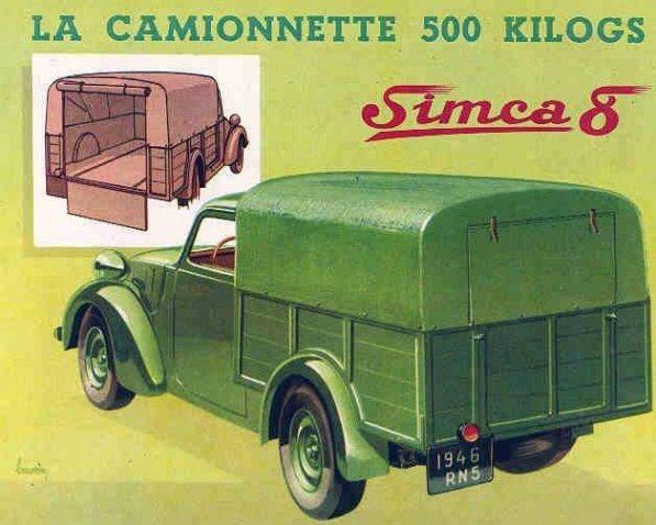 Simca 8 La Camionnette
