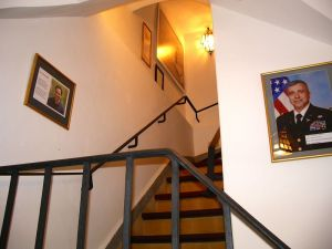 """""""Moroccans in America"""" exhibit, Pavilion staircase, opened June 2014"""