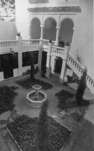 The courtyard and terrace approximately 40 years ago