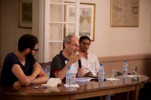 (l-r) Hicham Bouzid, Driss Ksikes, George Bajalia. All photos by Omar Chennai