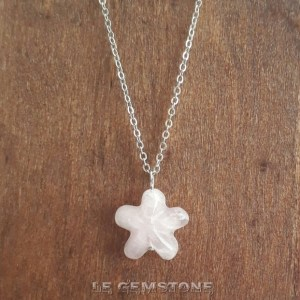 Star Rose Quartz Pendant Necklace