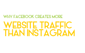 Why doesn't Instagram lead to as much website traffic as Facebook?