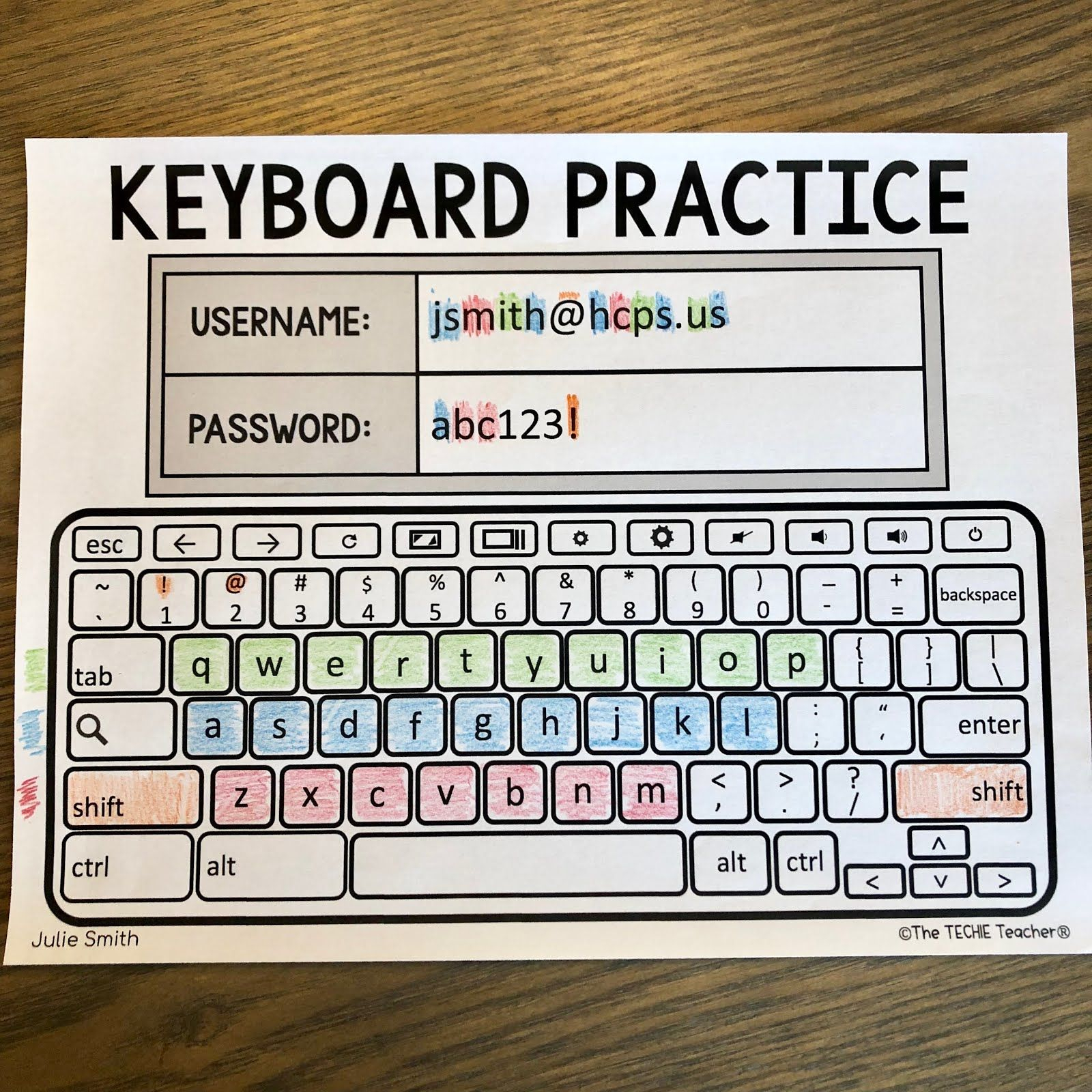 Free Printable Computer Keyboarding Worksheets