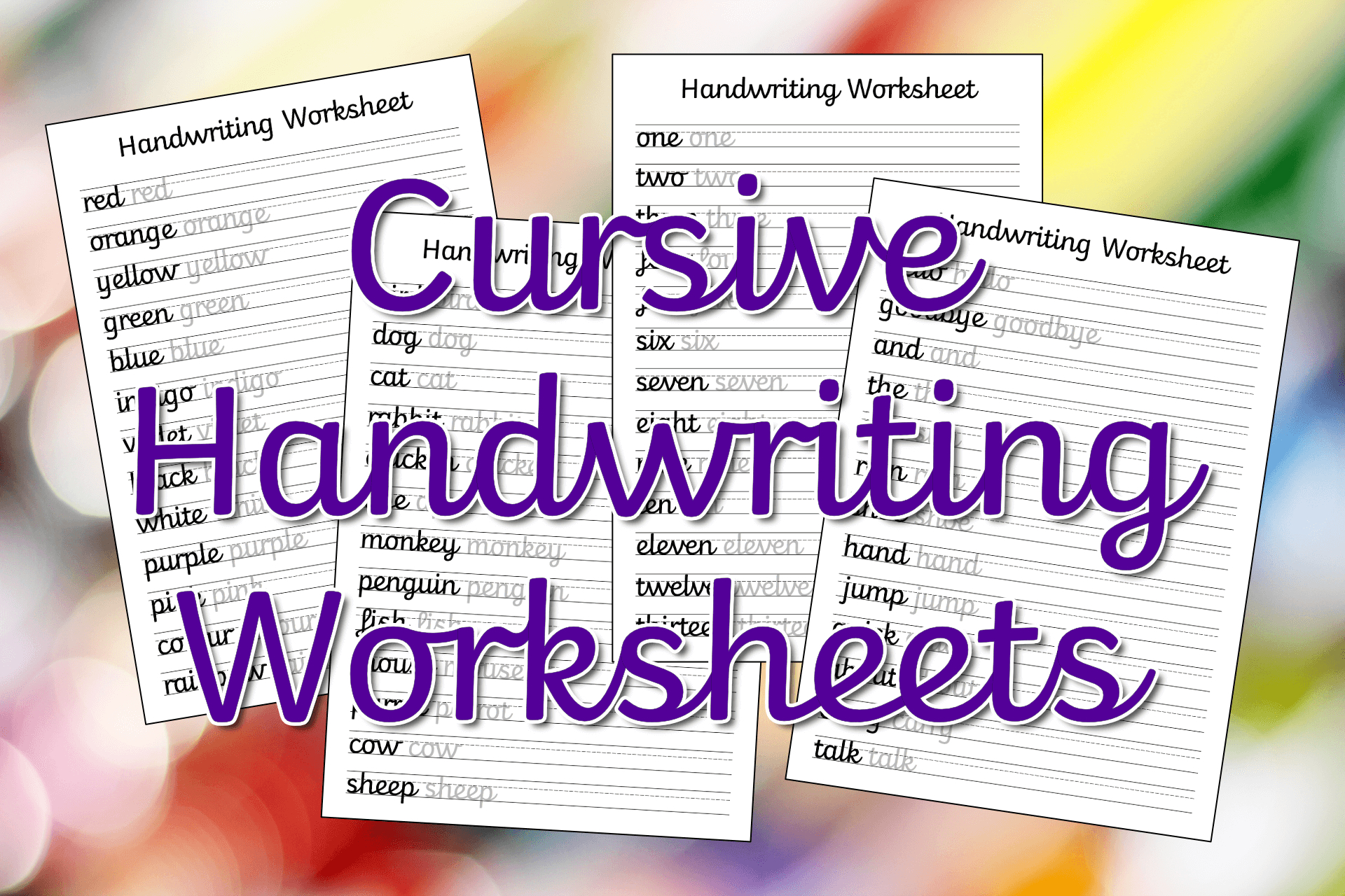 Free Printable Cursive Writing Sentences Worksheets