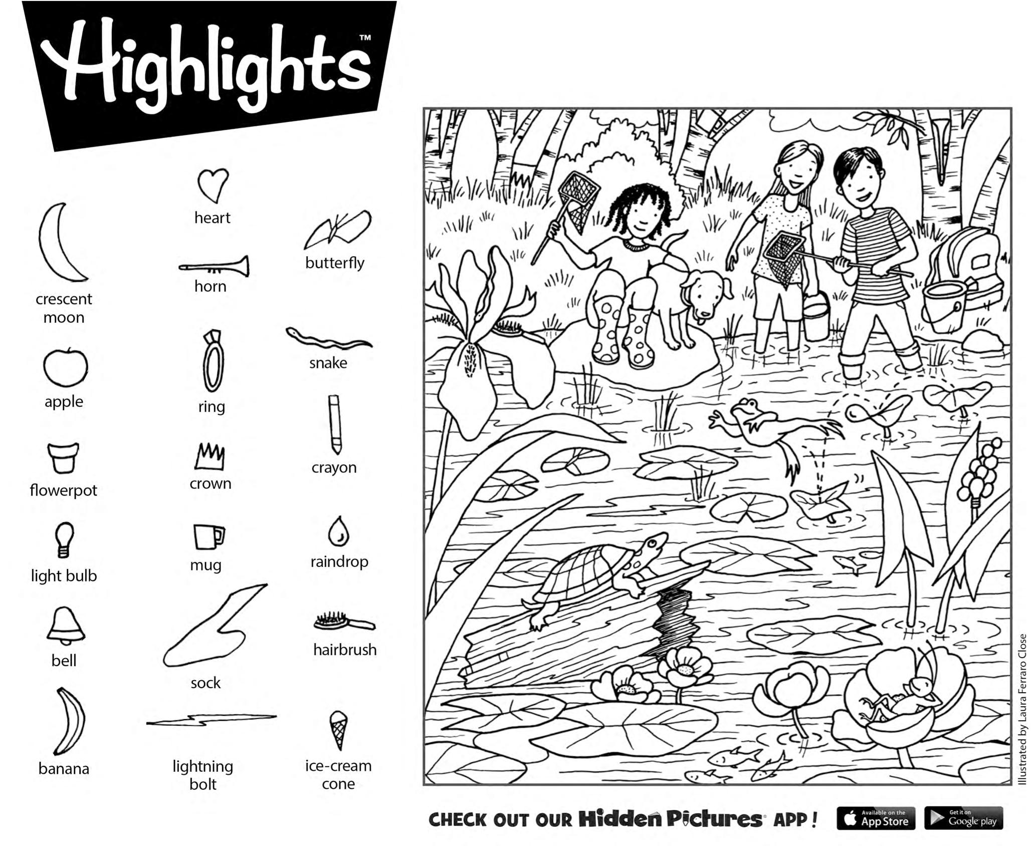 Highlights Hidden Pictures Printable Worksheets