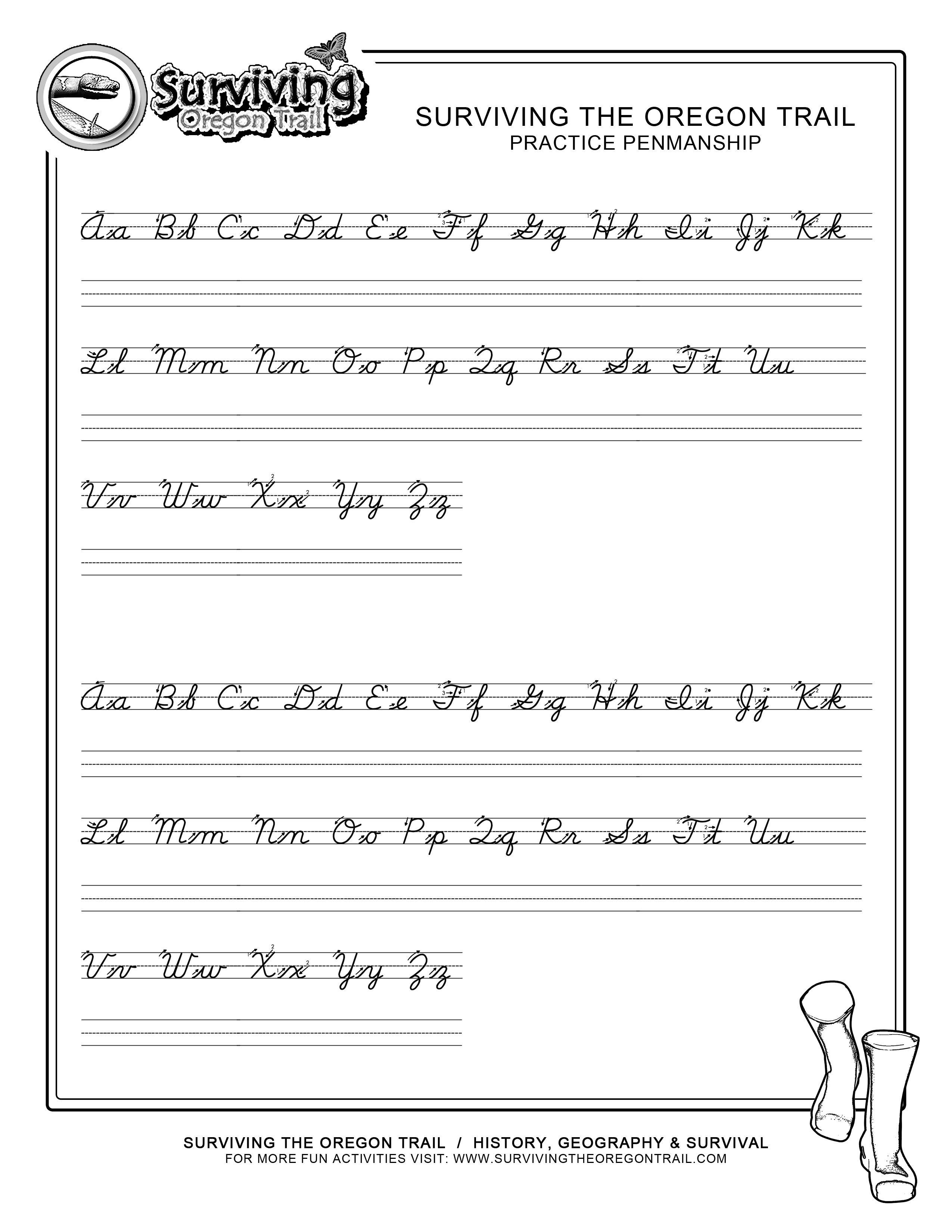 Free Printable Cursive Writing Sentences Worksheets