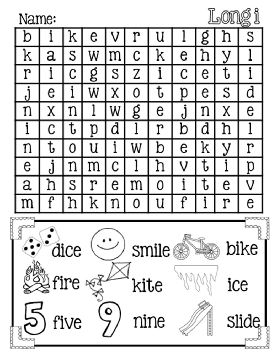 Silent E Printable Worksheets