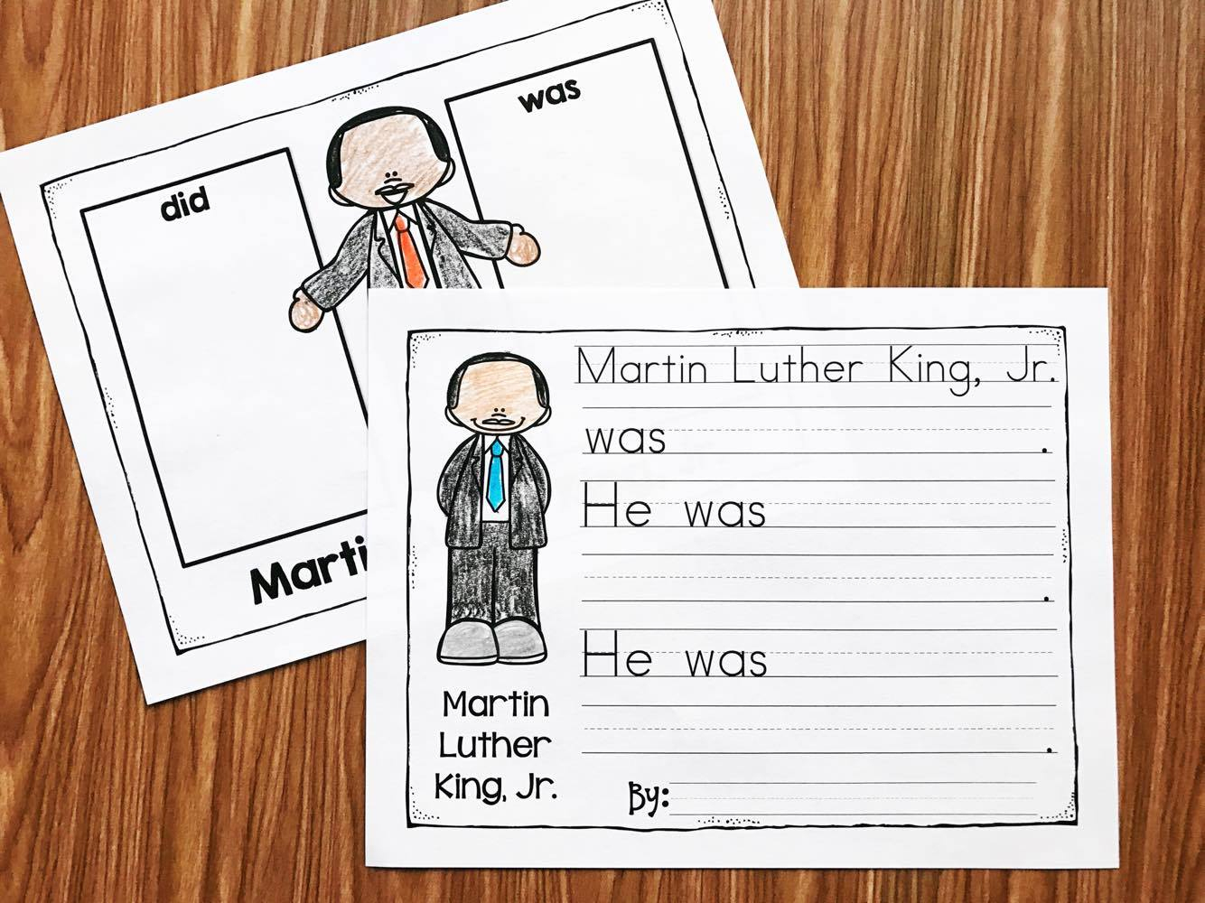 Coloring This Free Worksheet About Martin Luther King